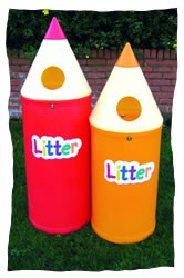 Midi Pencil Litter Bins with Litter Letters - PMIDL4 - PMIDL8
