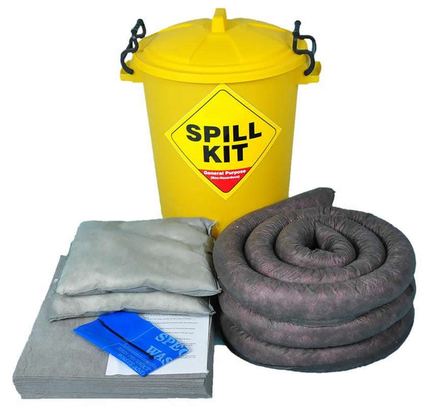 Spill-Safe 65 Litre General Purpose Round Yellow Drum Spill Kits - GSK6 - GRF6