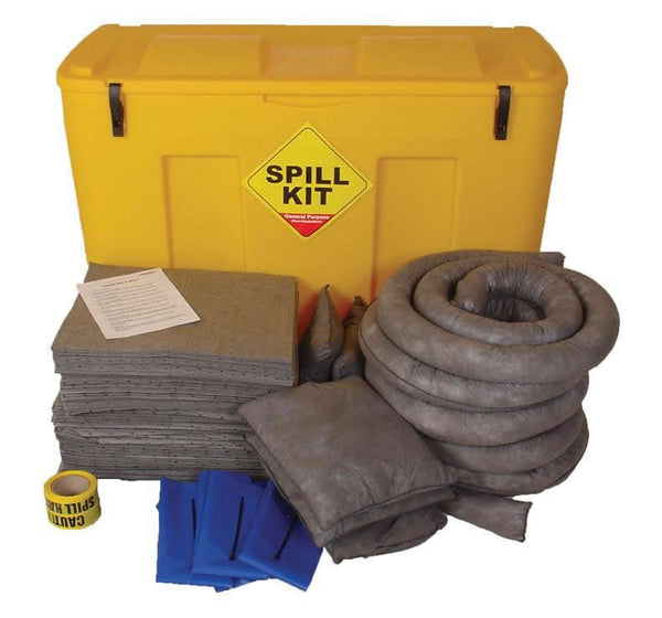 Spill-Safe 250 Litre General Purpose Mobile Locker Spill Kits - GSKJ - GRFJ