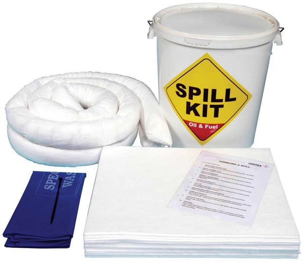 Spill-Safe 35 Litre Oil & Fuel Round Drum Spill Kits - OSK3 - ORF3