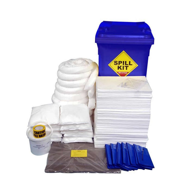 Spill-Safe 350 Litre Oil & Fuel Blue Wheelie Bin Spill Kit - OSKLWL - ORFLWL