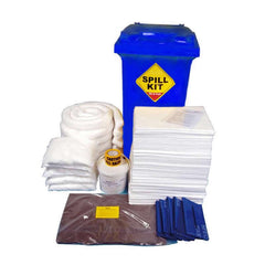 Spill-Safe 250 Litre Oil & Fuel Blue Wheelie Bin Spill Kit - OSKMWL - ORFMWL