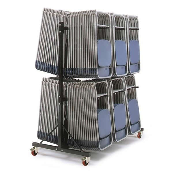 Work Gear High Level 2 Wide Hanging Chair Storage Trolley - PRIN-H3