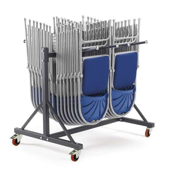 Work Gear Low Level 2 Wide Hanging Chair Storage Trolley - PRIN-L2