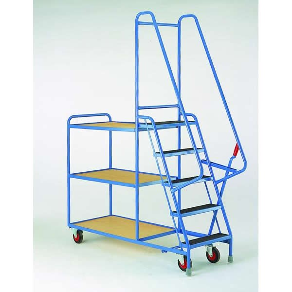 Steptek Heavy Duty 5 Step Tray Trolleys - S190 - S199