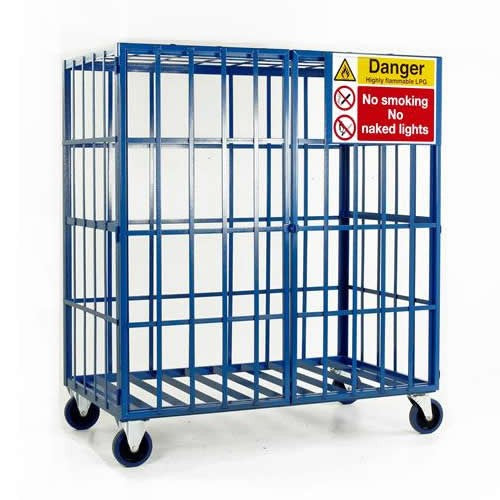Work Gear Mobile Cylinder Storage Cage for 8 Propane Type Cylinders - SC500
