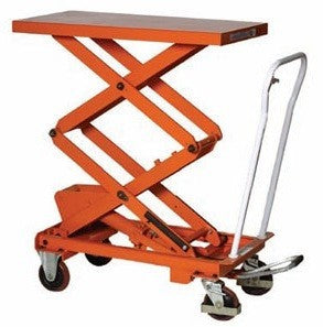 Warrior Manual Double Scissor Lifting Table - 350Kg - WR35D