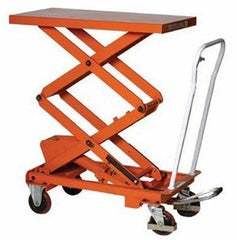 Warrior Manual Double Scissor Lifting Table - 800Kg - WR80D