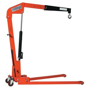 Warrior Folding Workshop Crane - 1000Kg Capacity - WRSC1000