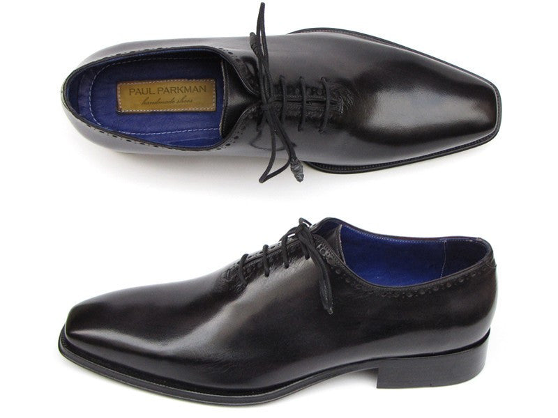 Paul Parkman Men's Plain Toe Oxfords Whole-cut Black (ID#025-BLK)