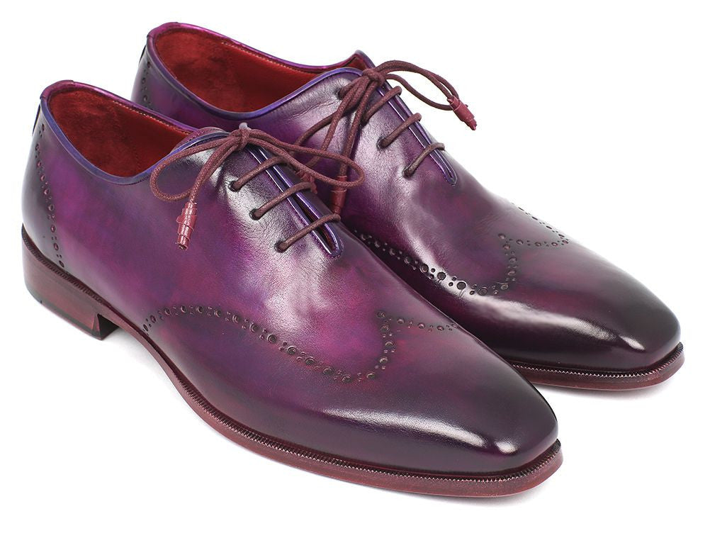 Paul Parkman Men's Purple Wingtip Oxfords (ID#84HT12)