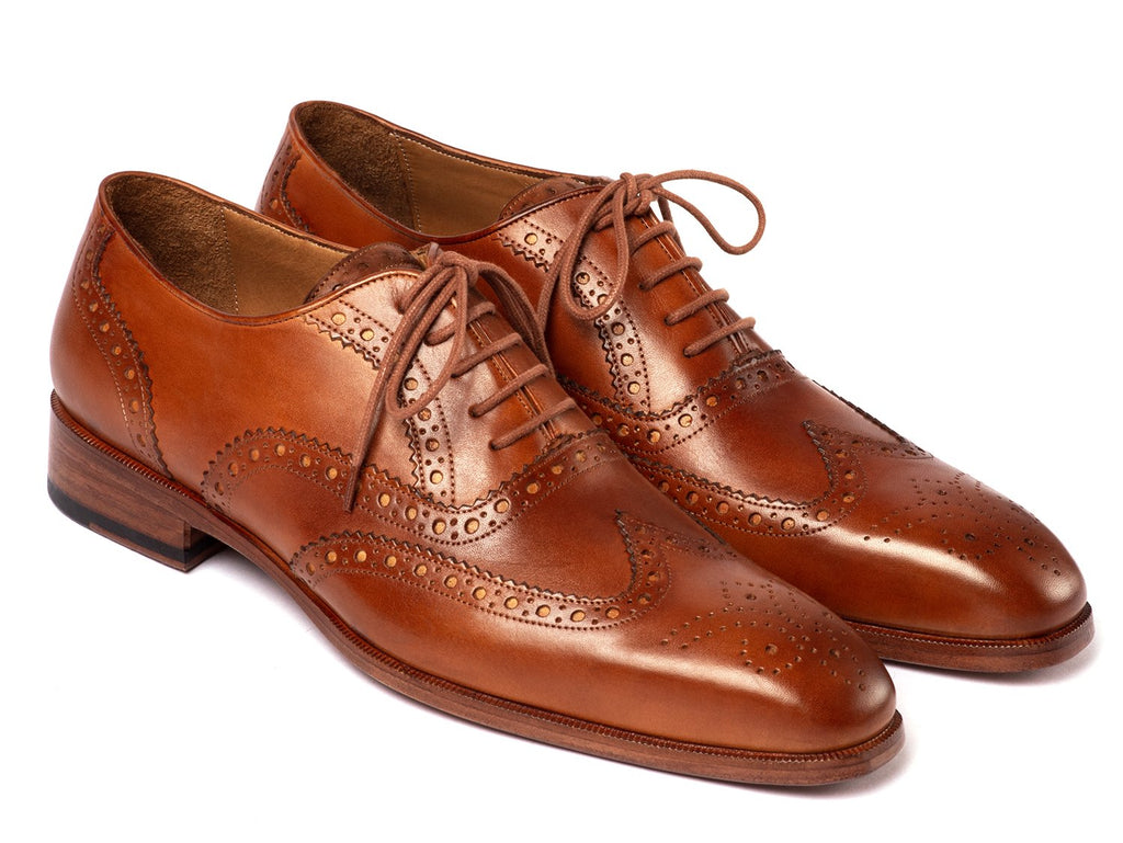 Paul Parkman Wingtip Oxfords Mid Brown (ID#5447-BRW)