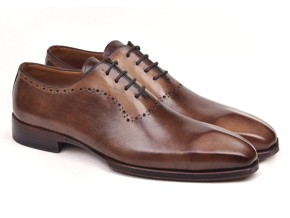 Paul Parkman Men's Antique Brown Oxfords (ID#AG444BRW)