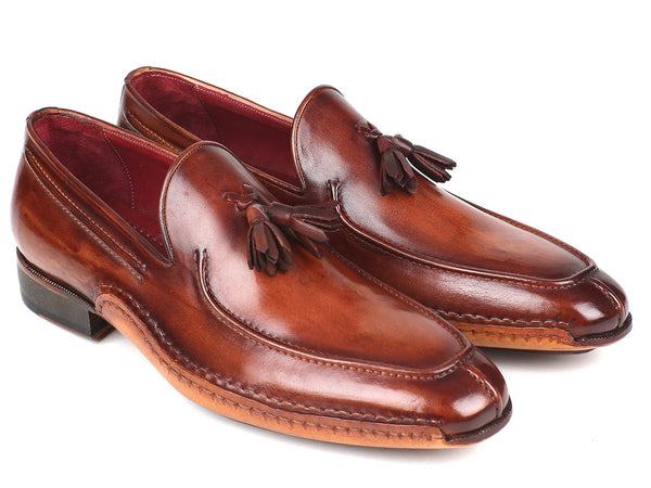 Paul Parkman Hand-Sewn Tassel Loafers Brown (ID#082-BRW)
