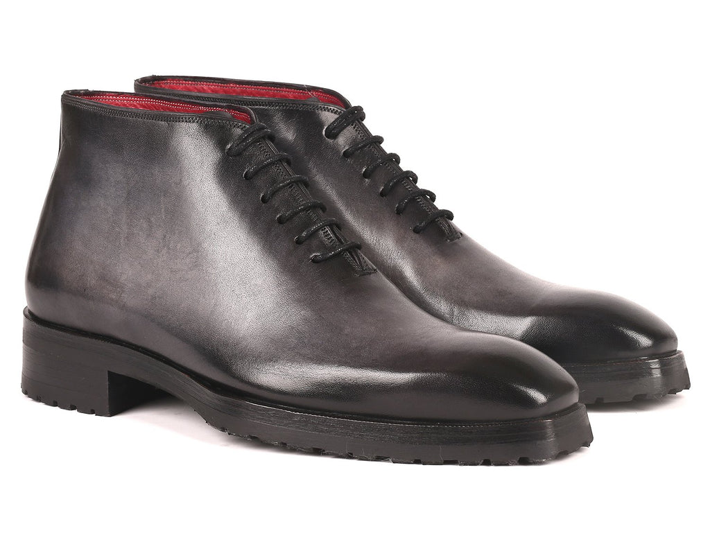 Paul Parkman Men's Ankle Boots Gray Burnished (ID#791GRY14)