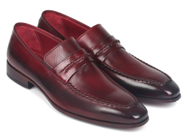 Paul Parkman Men's Loafers Bordeaux (ID#068-BRD)