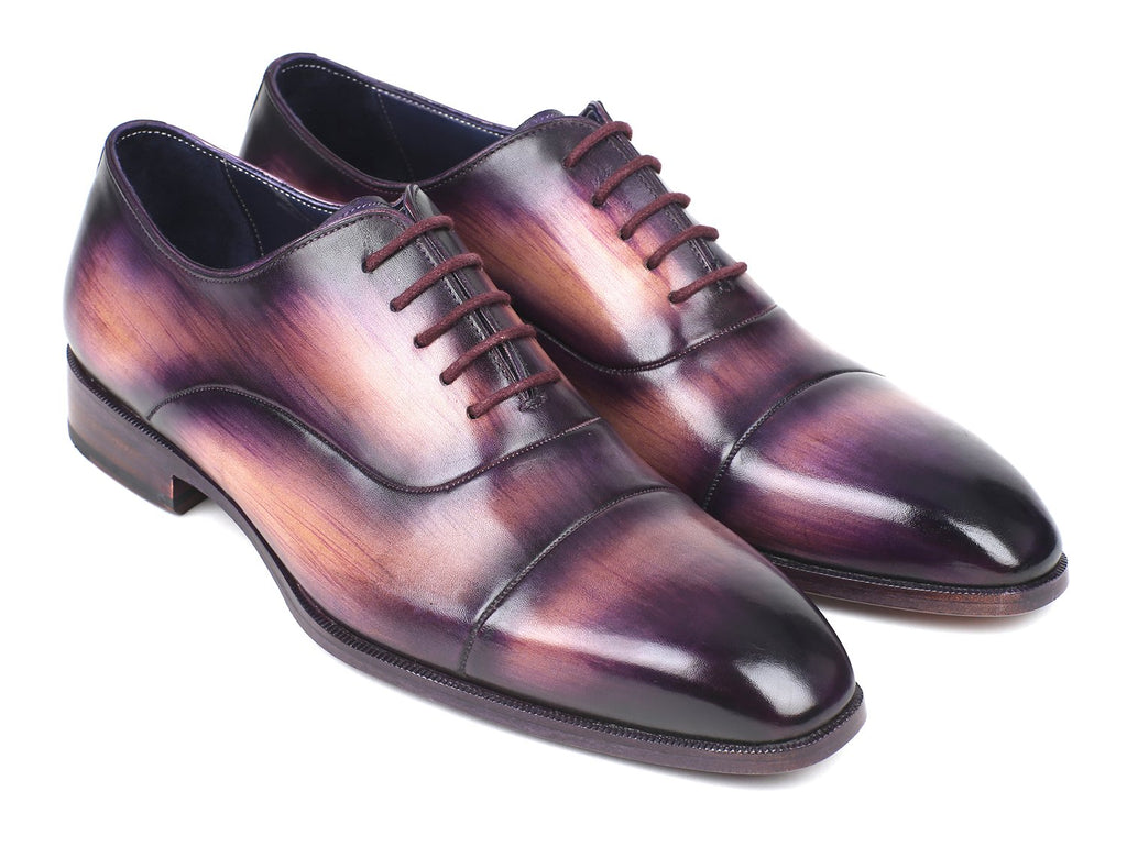 Paul Parkman Men's Cap-Toe Oxfords Purple (ID#1744-PRP)