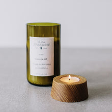 VERVEINE WINE BOTTLE CANDLE + CANDLEHOLDER