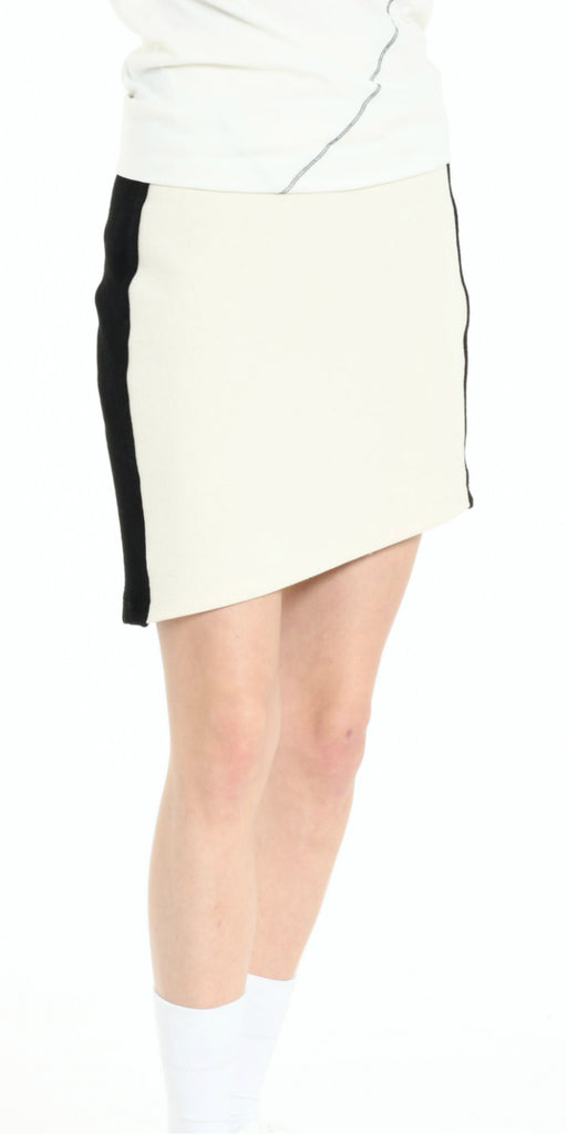 SKIRT OFF WHITE WITH BLACK STRIP
