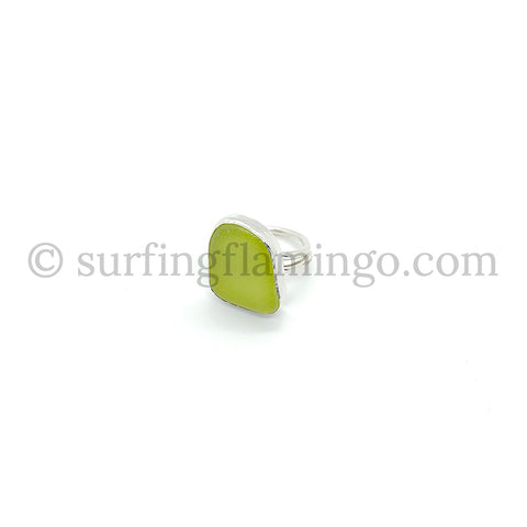 Lemon Twist Sea Glass Ring