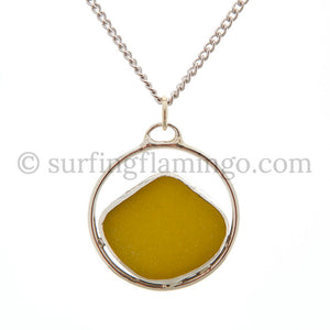 Mellow Yellow Sea Glass Necklaces