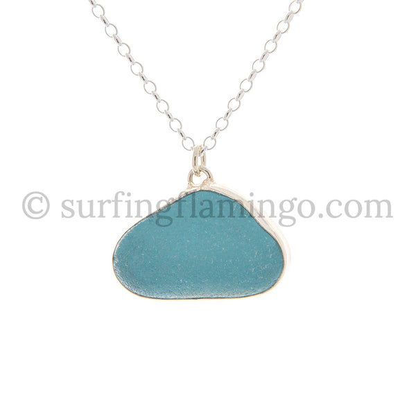 Caribbean Blue Sea Glass Necklaces