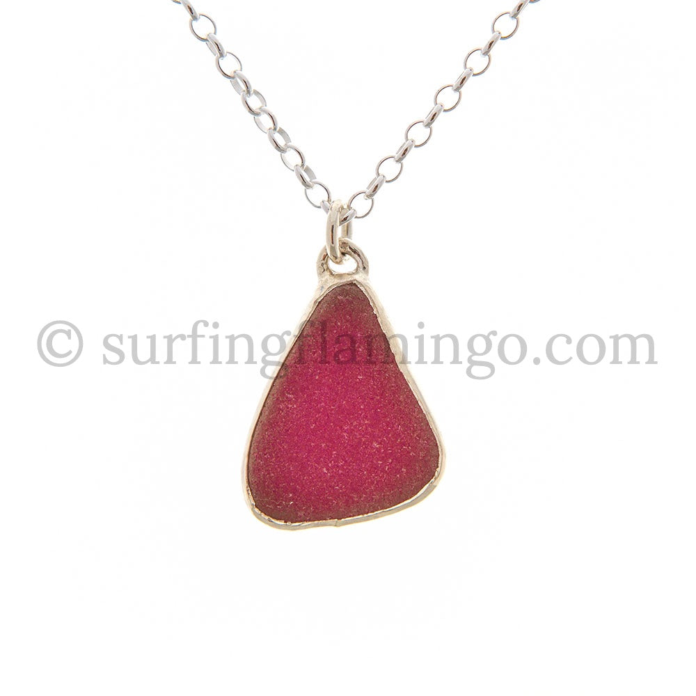 Magenta Devine Sea Glass Necklaces