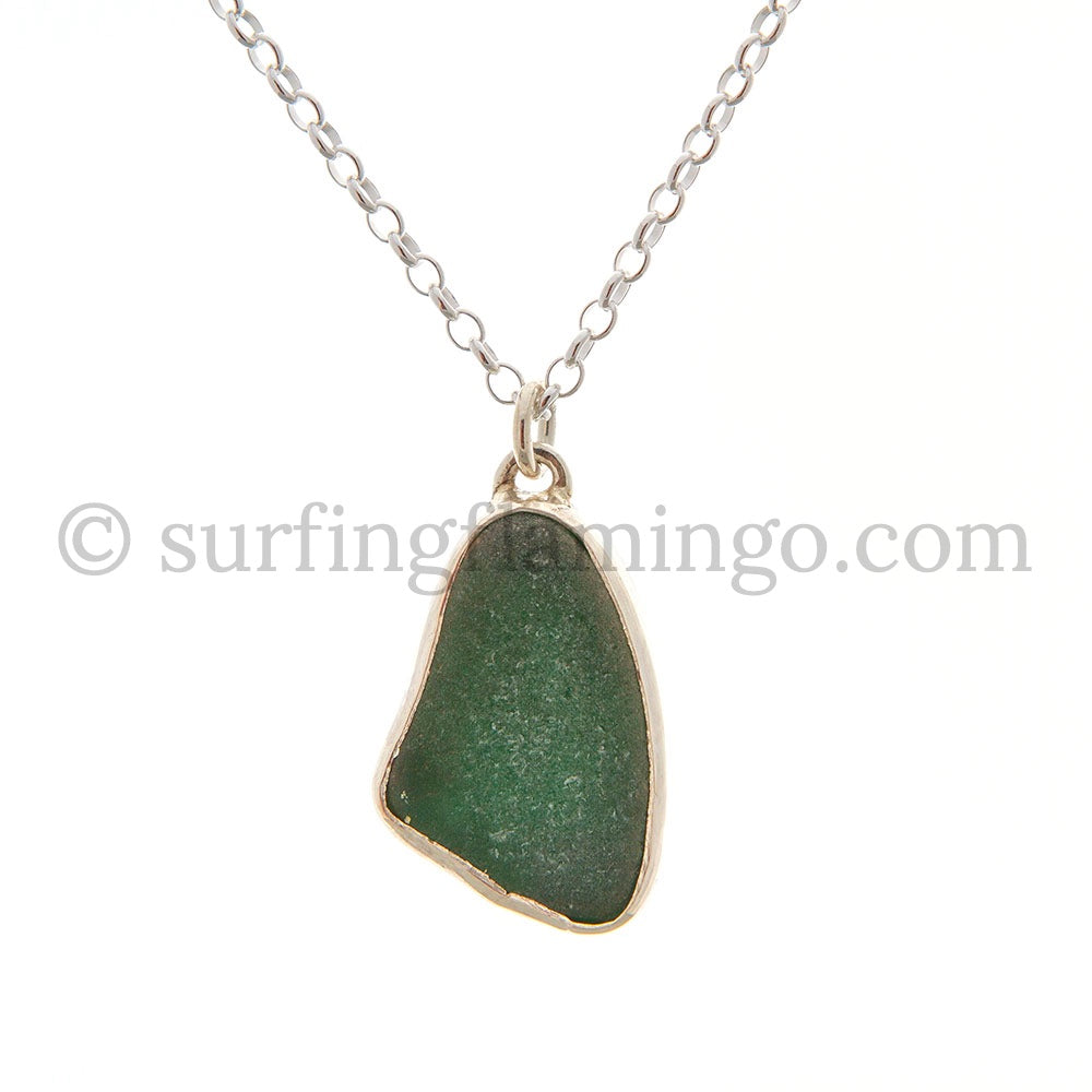 Emerald Green Sea Glass Necklaces