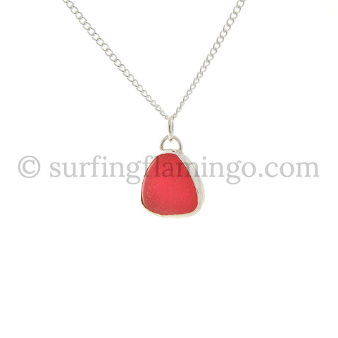 Passion Pink Sea Glass Necklaces