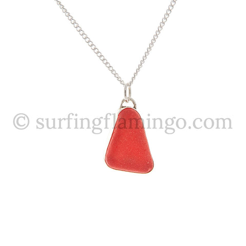 Candy Apple Red Sea Glass Necklaces