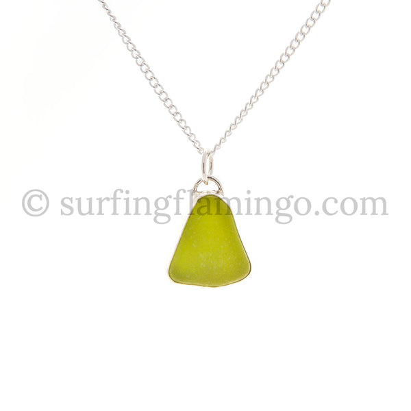 Lemon Twist Sea Glass Necklaces