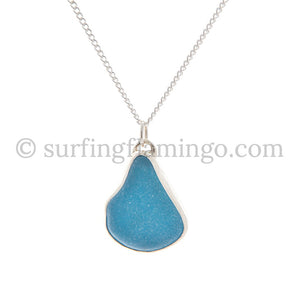 Vibrant Blue Sea Glass Necklaces