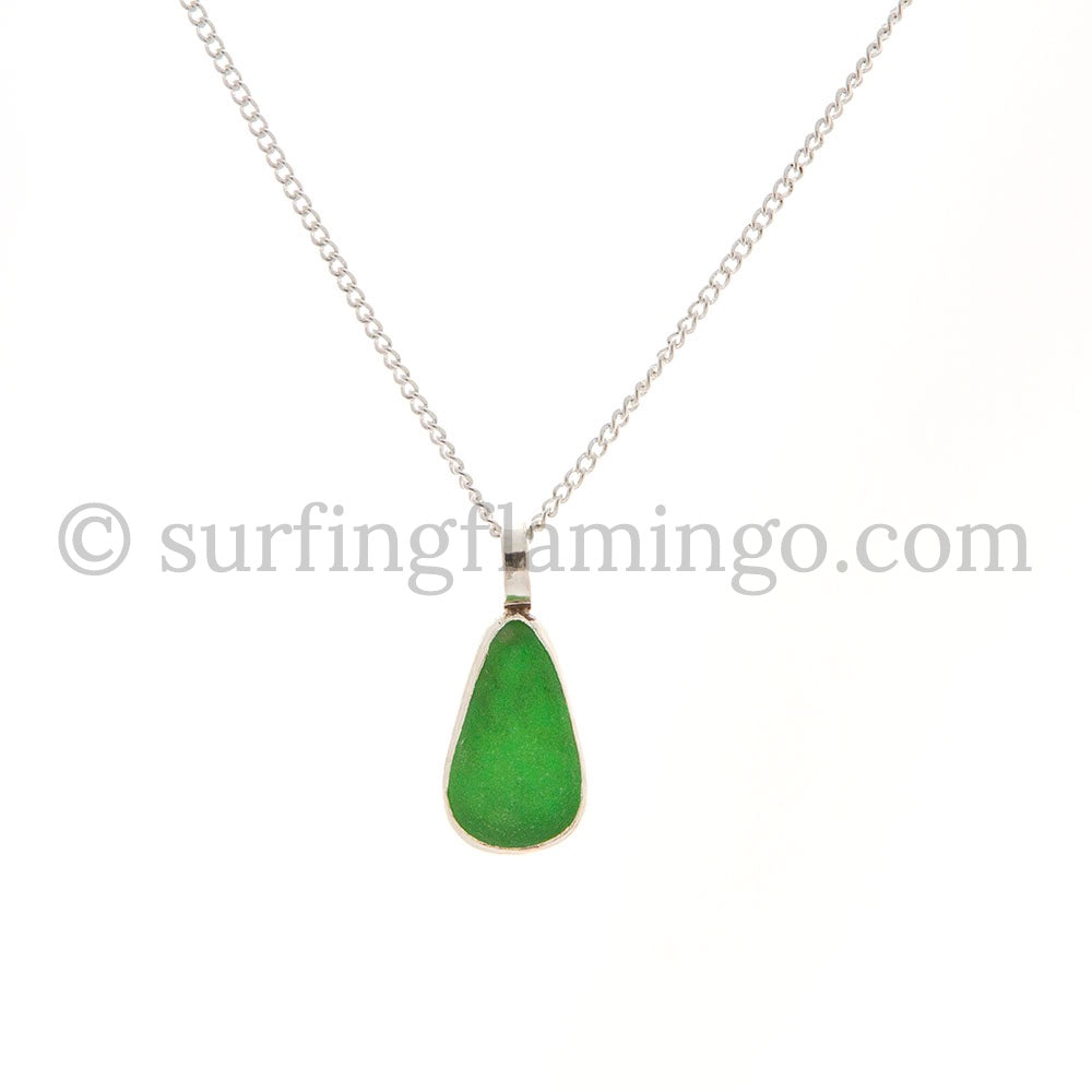 Kelly Green Sea Glass Necklaces