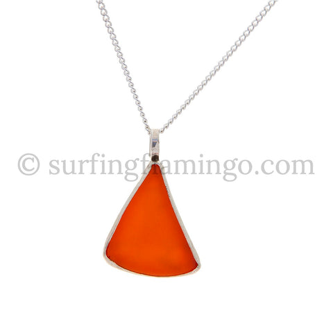 Tangerine Orange Sea Glass Necklaces
