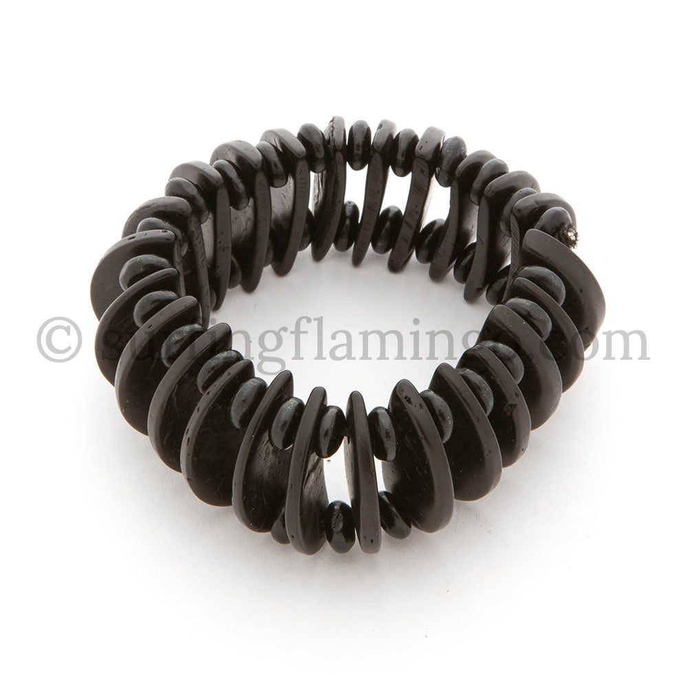 Black Beauty – Black Wooden Stretch Bracelet