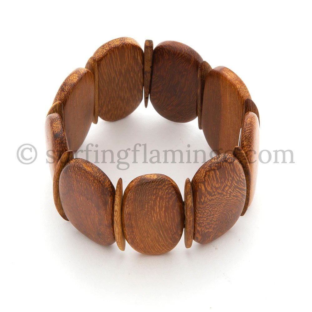 Woodsy – Wooden Cuff Stretch Bracelet