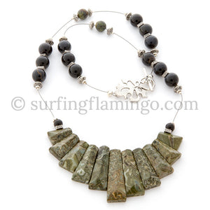 Camo – 11 Piece Chryosocolla Necklace