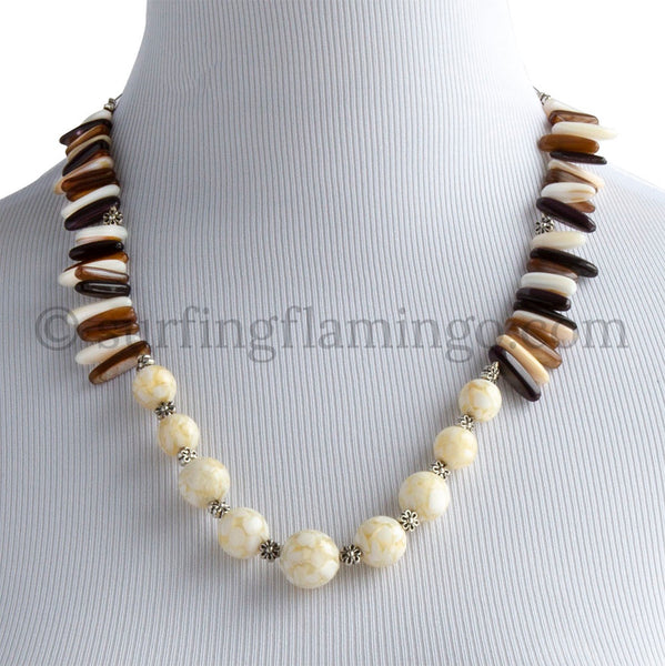 Caramel Cream - Beaded Swirls and Chip Beads