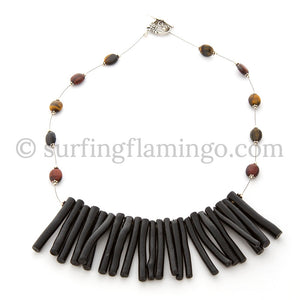 Sticks and Stones – Multi Tiger Eye and Stick Necklace