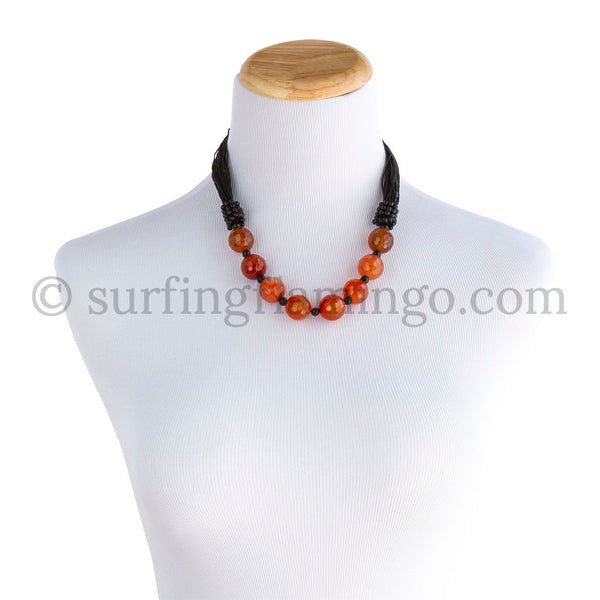 Sunrise – Orange Nugget Statement Necklace