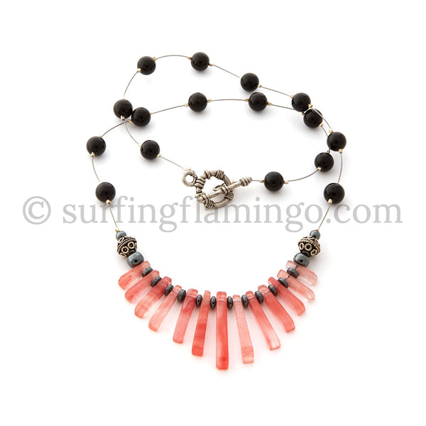 Pink Cleo – Egyptian-Inspired Graduated Necklace