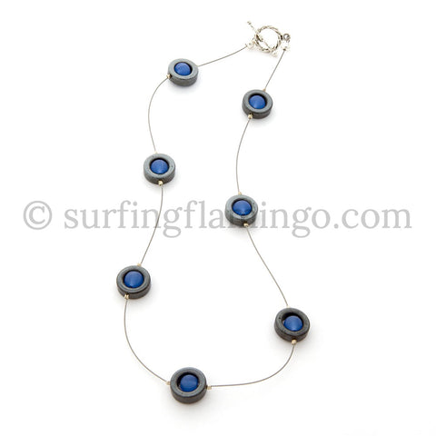 Blue Eclipse Necklace