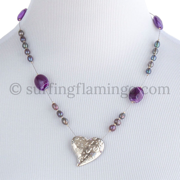 Flirty – Metal Heart Pendant