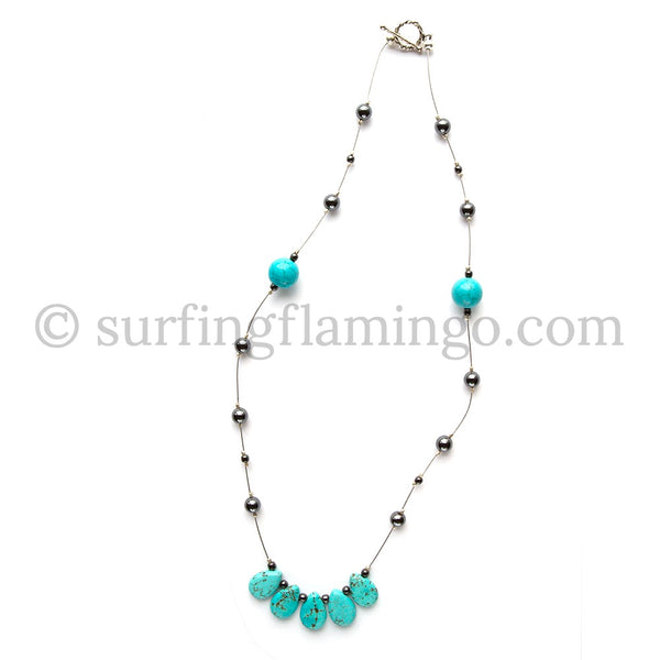 Blue River – Howlite Necklace