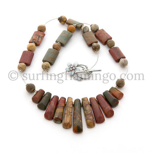 Sedona Sunset – Eleven Piece Jasper Pendant with Red Creek Jasper