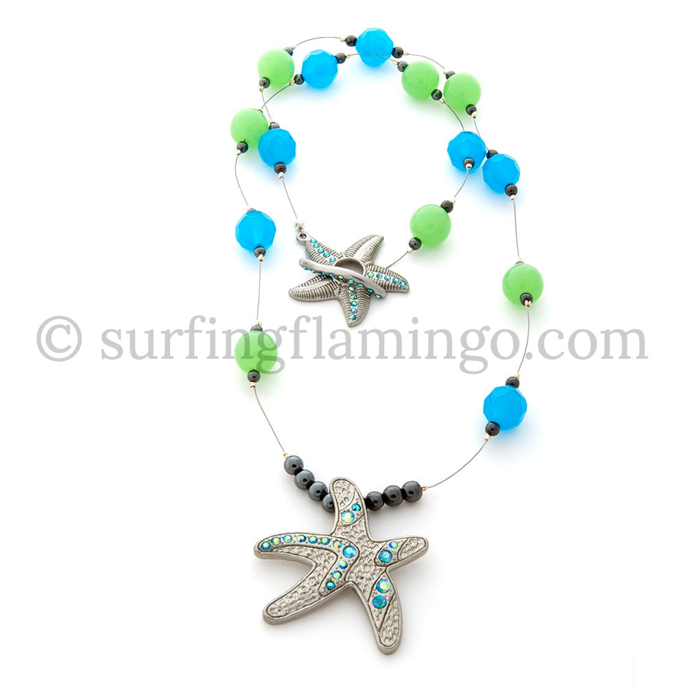 Wish Upon a Starfish - Starfish Pendant with Matching Toggle Clasp