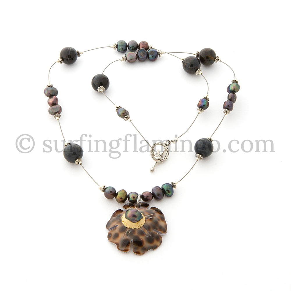 Shell Shocked - Cowry Shell and Pearl Necklace