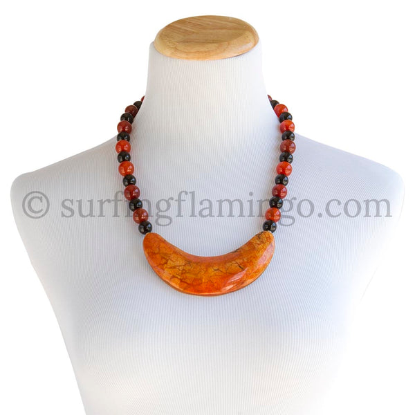 Vitality - Coral and Agate Necklace