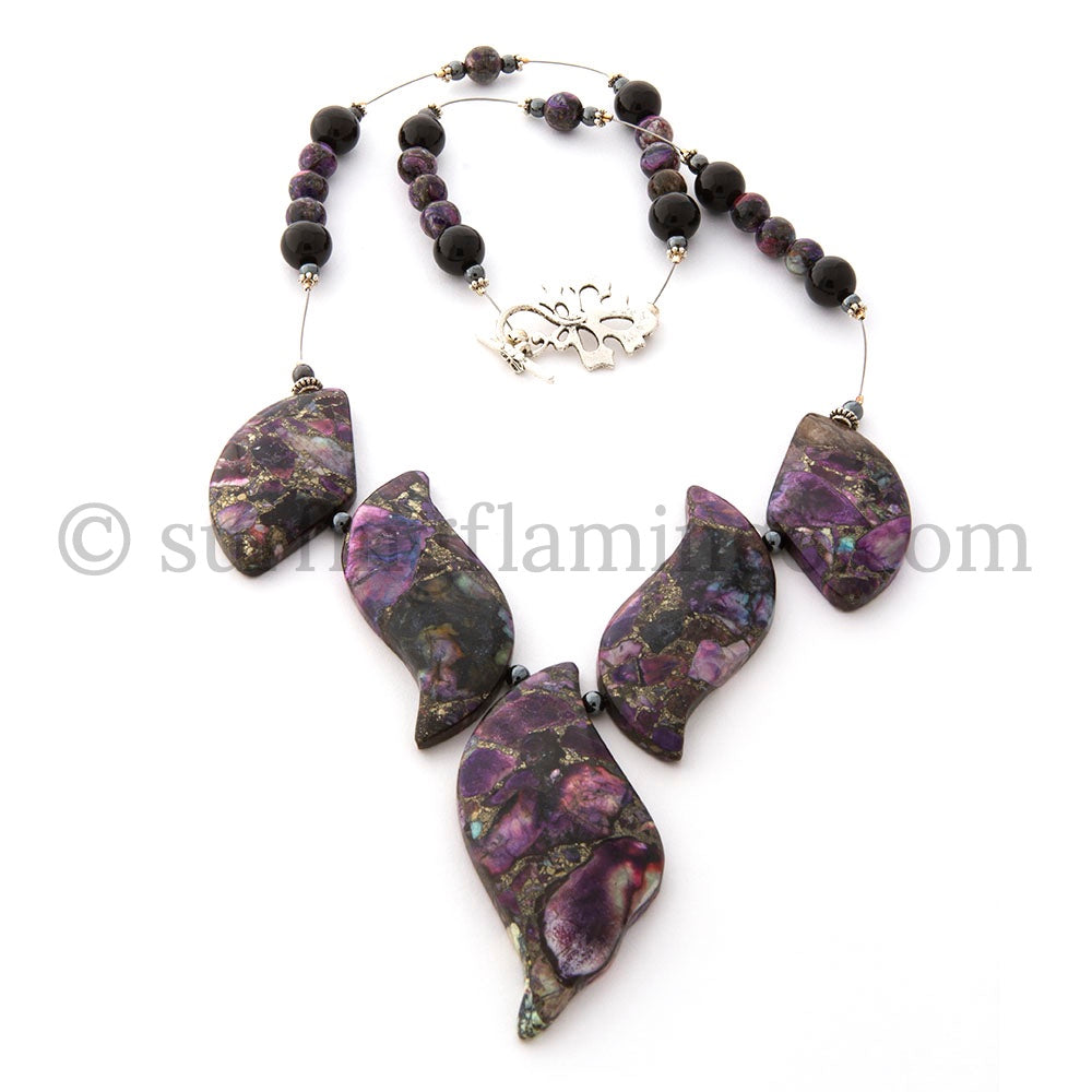 Royalty - 5 Piece Pyrite Jasper Necklace