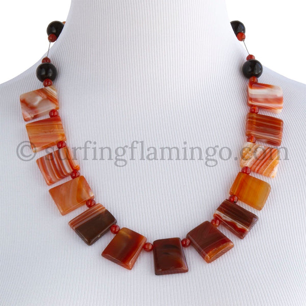 Nile Queen – Orange Agate Squares